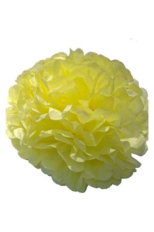 Balonpark Civciv Sarı Ponpon Gramafon Çiçek Kağıt Doğum Günü Parti Süsü 1
