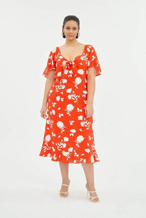 LUOKK Kadın Balon Kol Elbise 1