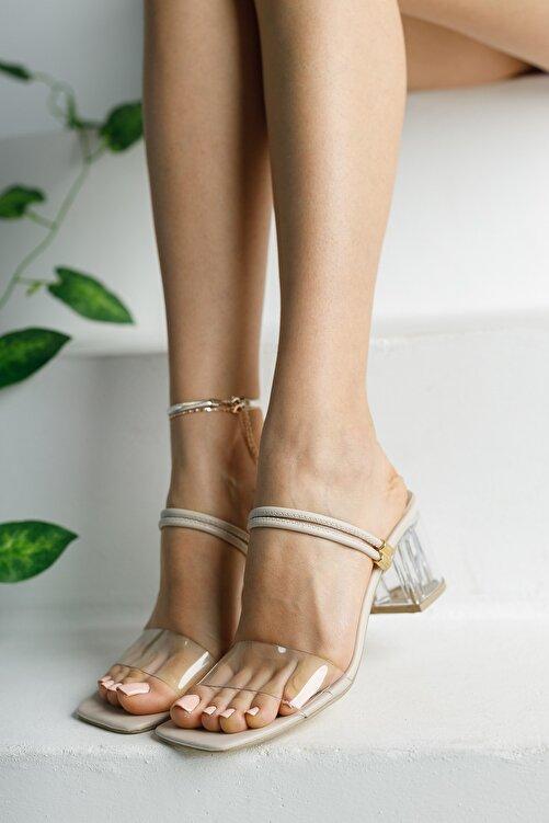meyra'nın ayakkabıları Ten Şeffaf Terlik ve Sandalet Topuklu Ayakkabı 1