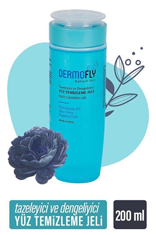 Dermofly Tüm Cilt Tiplerine Uygun Yüz Temizleme Jeli 200 ml 1