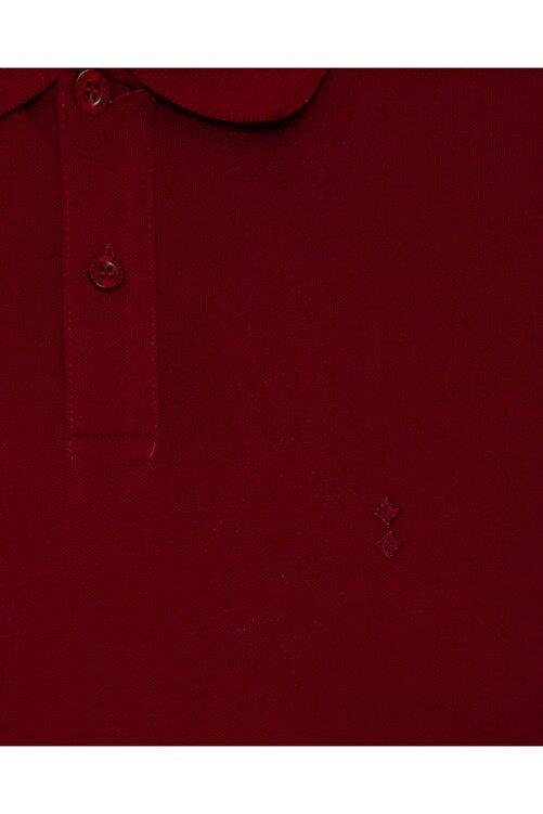 SÜVARİ Erkek Bol Kesim Polo Yaka Bordo Tişört 2