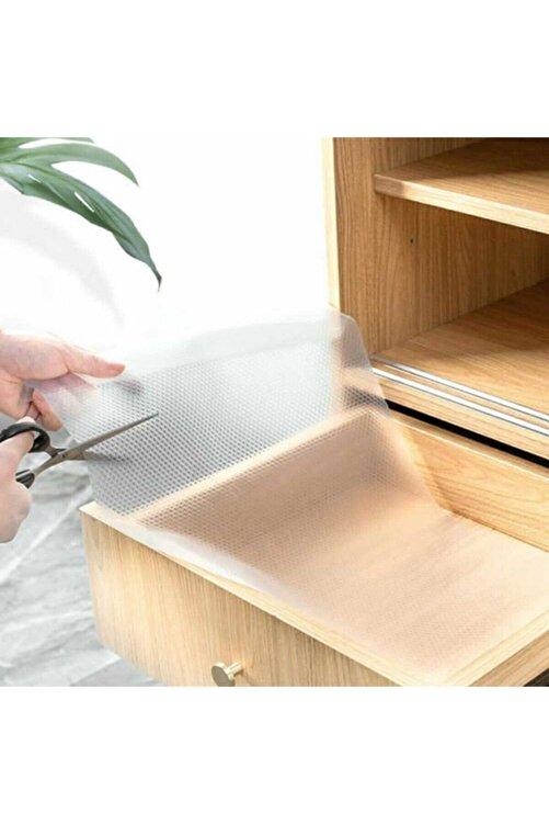 Lariss Şeffaf Kaydırmaz Raf Dolap Ve Çekmece Örtüsü 45 Cm X 10 Metre + Maket Bıçağı Hediyeli 2