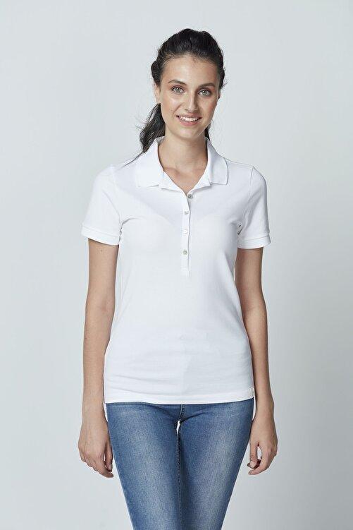 Letoile Pamuklu Polo Yaka T-shirt Beyaz 2