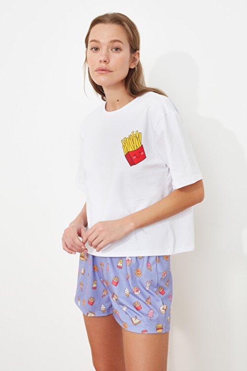 TRENDYOLMİLLA Baskılı Örme Pijama Takımı THMSS21PT0490 2