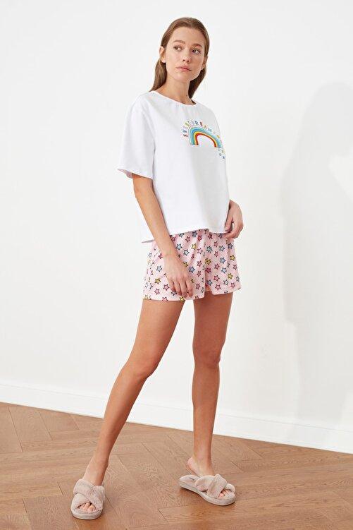 TRENDYOLMİLLA Baskılı Örme Pijama Takımı THMSS21PT0601 1