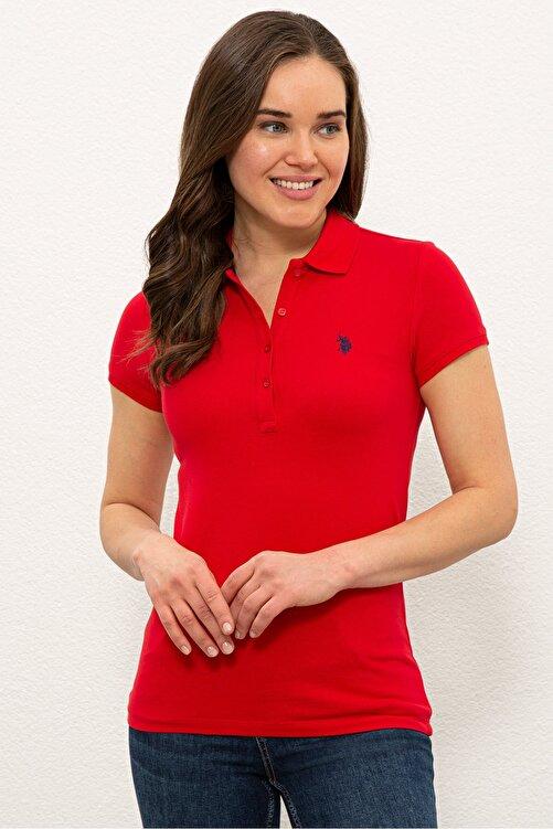 U.S. Polo Assn. Kırmızı Kadın T-Shirt 1