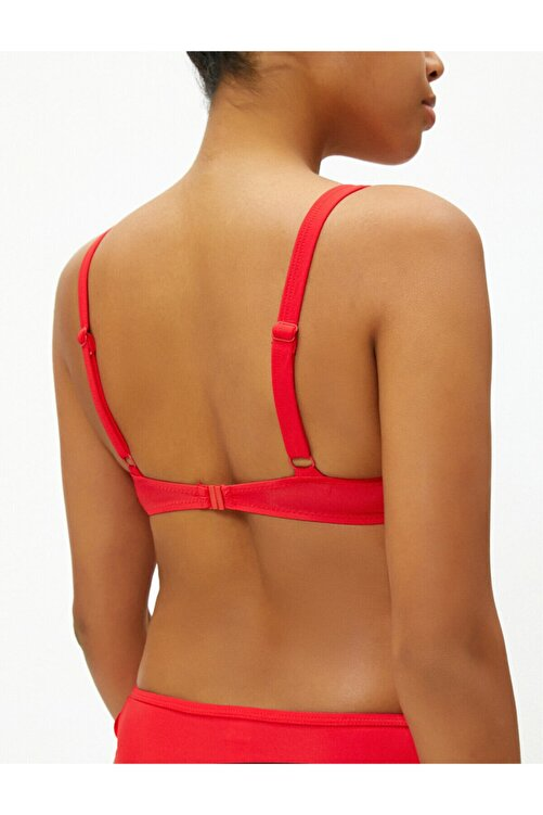 Koton Kadın Kırmızı Maximizer Dolgulu Basic Bikini Üstü 2