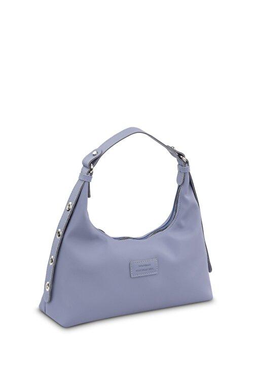 Housebags Kadın Mavi Baguette Çanta 205 2