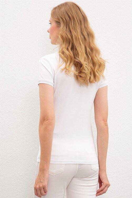 U.S. Polo Assn. Kadın Beyaz Polo T-shırt 1227451 2