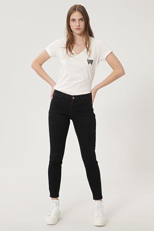 WRANGLER Kadın Antrasit High Rise Skinny Fit Denim Esnek Yüksek Bel Jean Kot Pantolon 1