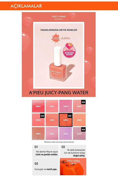 Missha Doğal Görünüm Sunan Nemlendirici Likit Allık 9g. APIEU Juicy-Pang Water Blusher (CR02) 2