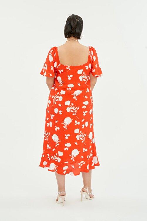 LUOKK Kadın Balon Kol Elbise 2