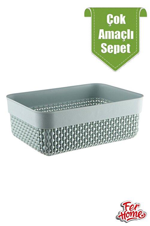 FERHOME Banyo Mutfak Sepeti Ekmek Baharat Havlu Makyaj Çok Amaçlı Düzenleyici Sepet 2
