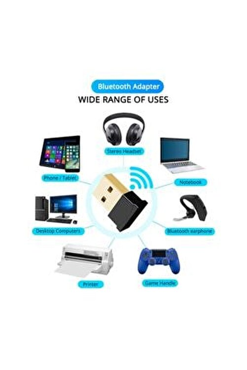KLASİST Bluetooth 4.0 Adaptör Dongle Receiver Alıcısı Usb Tak Çalıştır 2