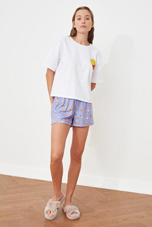 TRENDYOLMİLLA Baskılı Örme Pijama Takımı THMSS21PT0490 1