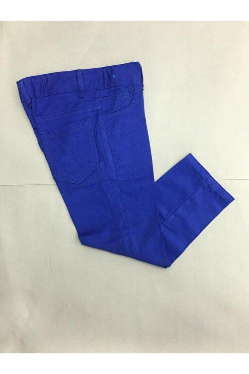 Gökkuşağı Çocuk Düz Renk Keten Pantolon 1