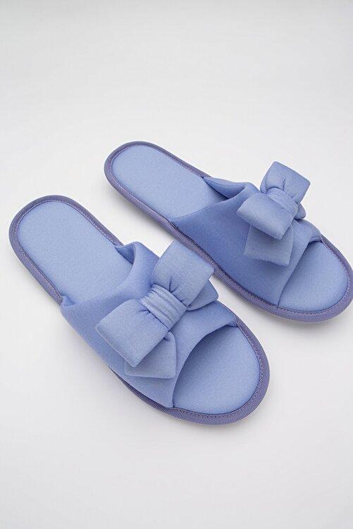 Penti Kadın Mavi Soft Bow Terlik 1