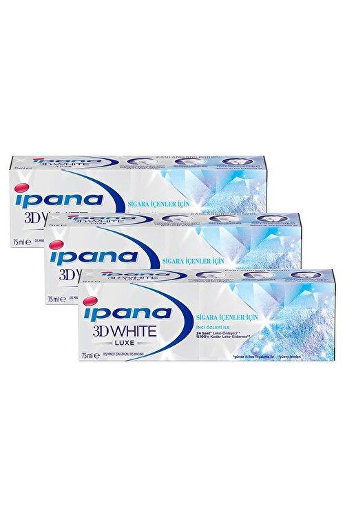 İpana Ipana 3DWhite Luxe Sigara İçenler için Beyazlatıcı Diş Macunu 225 ml ( 75ml x 3 ) 2