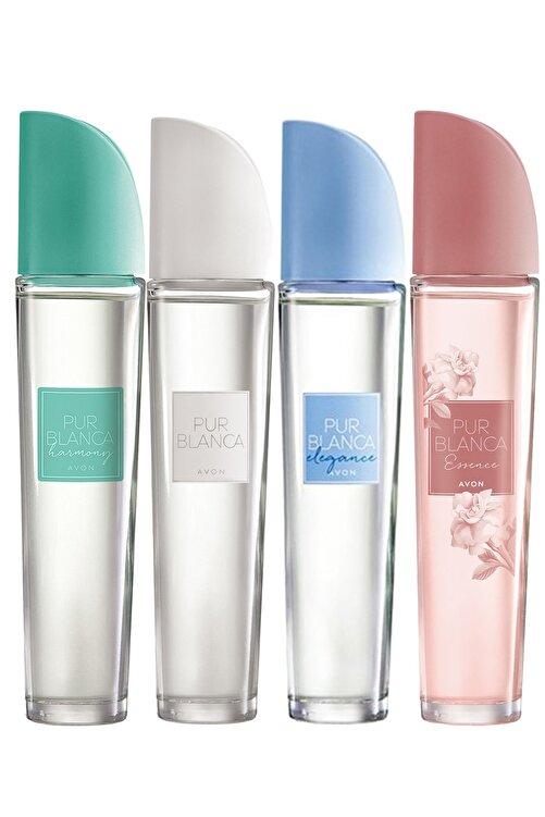 AVON Pur Blanca  Harmony Elegance Essence Edt 50 ml  Kadın Parfüm Paketi 4'lü 1