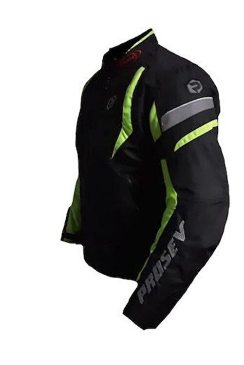 Prosev Erkek Yeşil Siyah Malibu Motosiklet Montu 2