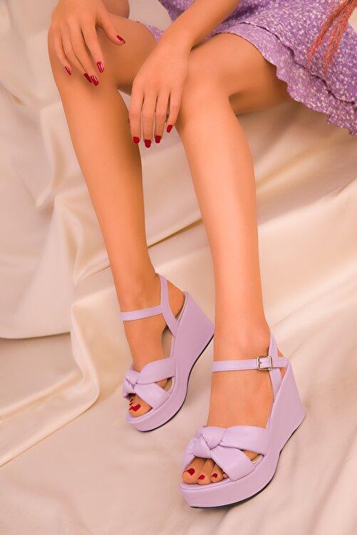SOHO Lila Kadın Dolgu Topuklu Ayakkabı 16259 2