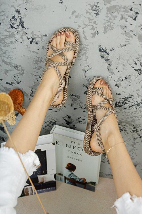 meyra'nın ayakkabıları Kadın Halat Sandelet Vizon 1