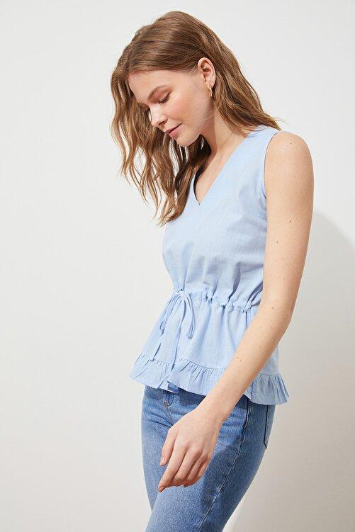 TRENDYOLMİLLA Mavi Bağlama Detaylı Bluz TWOSS20BZ0898 2