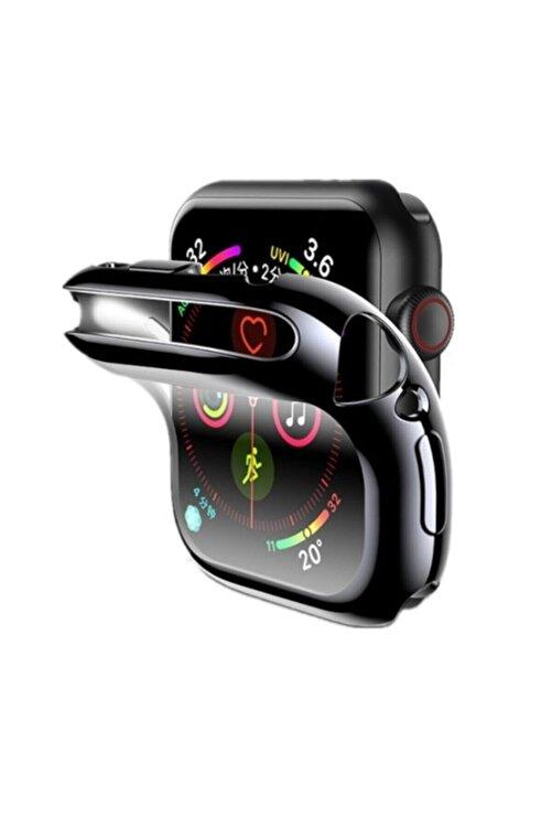 Gate Apple Watch Uyumlu Siyah Silikon Kılıf 44 Mm Tam Koruma Iwatch 1 2 3 4 5 1