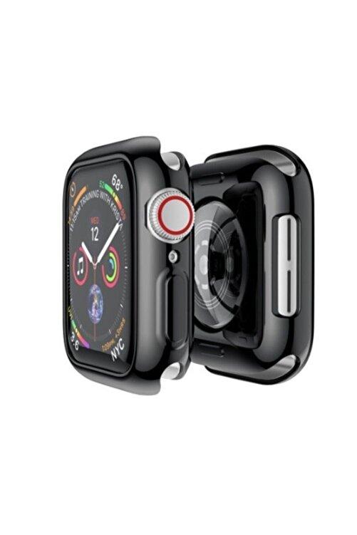 Gate Apple Watch Uyumlu Siyah Silikon Kılıf 44 Mm Tam Koruma Iwatch 1 2 3 4 5 2