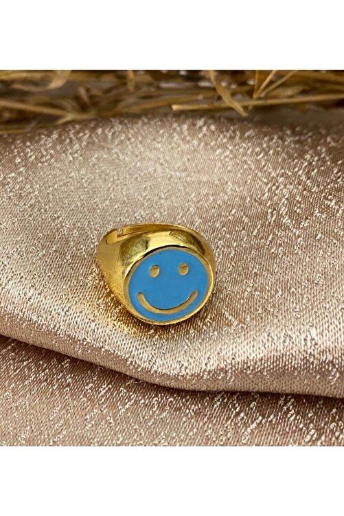 Markiz Takı Kadın Mavi Ayarlanabilir Smile Yüzük 2
