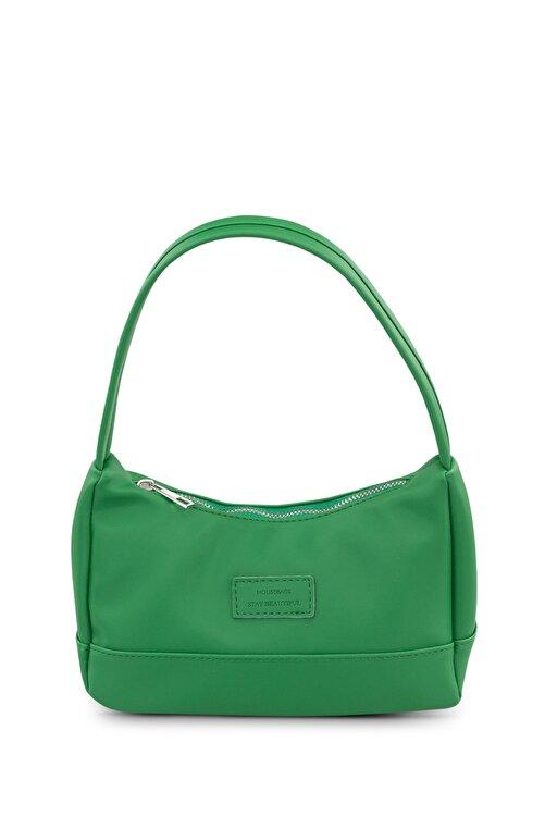 Housebags Kadın Yeşil Baguette Çanta 197 1