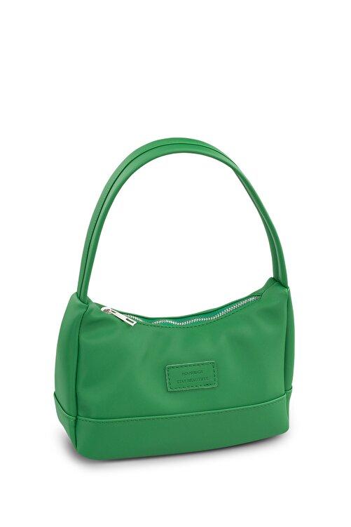 Housebags Kadın Yeşil Baguette Çanta 197 2