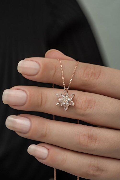 Nereze 925 Ayar Beyaz Lotus Çiçeği Kolye Kadın Gümüş Kolye 1