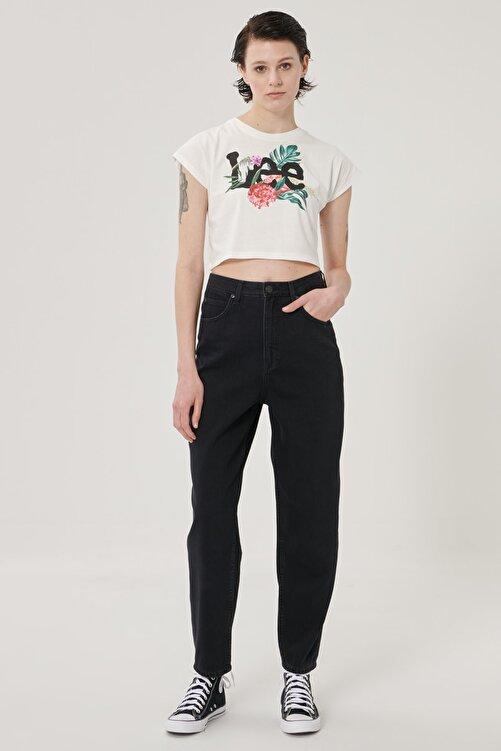 Lee Kadın Siyah Stella Tapered Fit Denim Esnek Jean Kot Pantolon 1