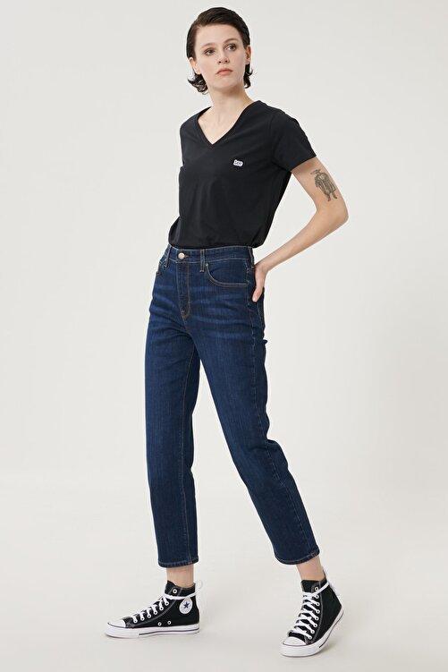 Lee Kadın Koyu Mavi Carol Straight Fit Denim Esnek Jean Kot Pantolon 1
