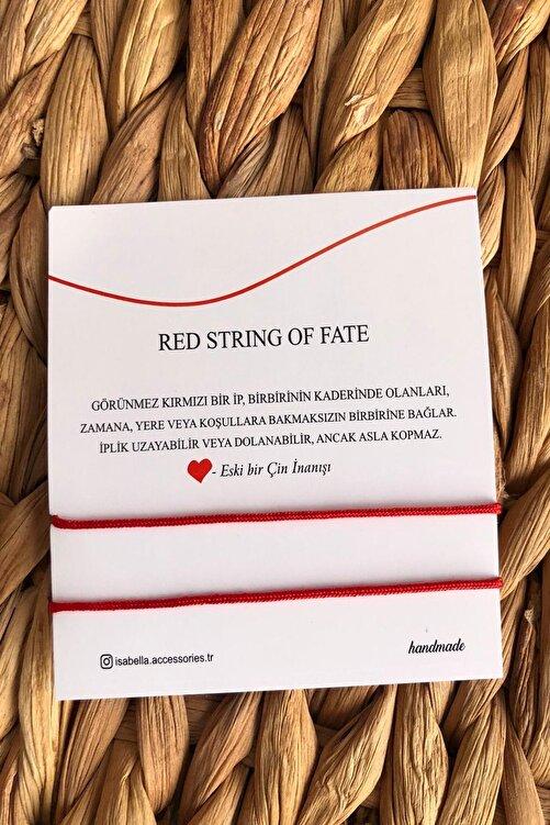 İsabella Accessories Kırmızı  Red String Ip Çift - Sevgili Bilekliği 2