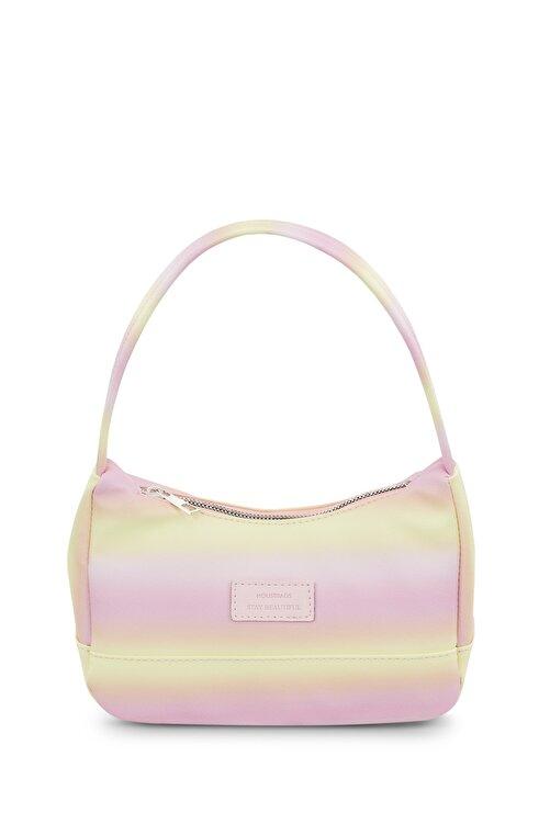 Housebags Kadın Sarı Renkli Baguette Çanta 197 1
