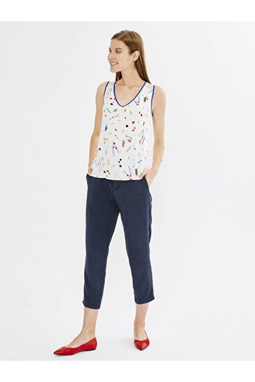 Xint Xınt Normal Bel Ön Bağlamalı %100 Liyosel Rahat Kesim Pantolon 2