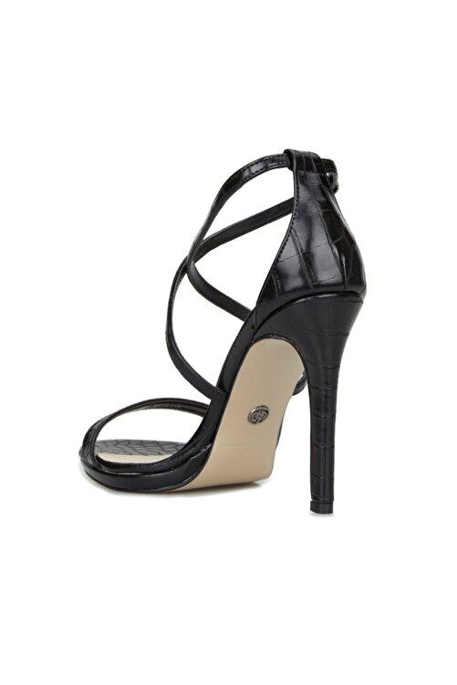 Dıvarese Kadın Siyah Krokodil Dokulu Sandalet 2
