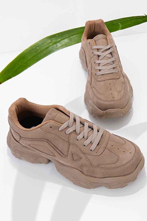 Bambi Vizon Süet Kadın Sneaker K01876010065 1