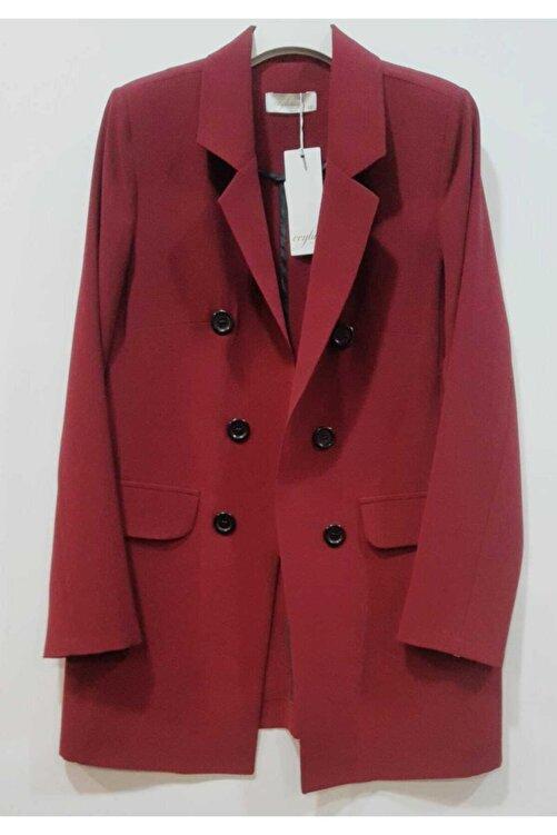 Ceylinn Kadın Bordo Blazer Ceket 1