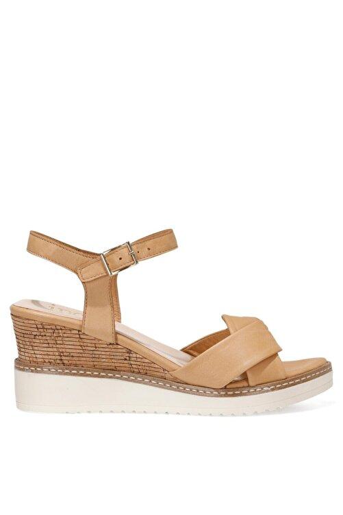 İnci TERI.Z 1FX Kahverengi Kadın Dolgu Topuklu Sandalet 101033768 1