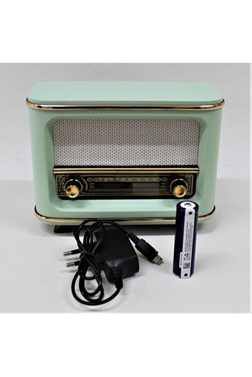 Otantik Çarşı Nostaljik Radyo Yeşil Istanbul Model Şarjlı Pil+adaptörlü 1