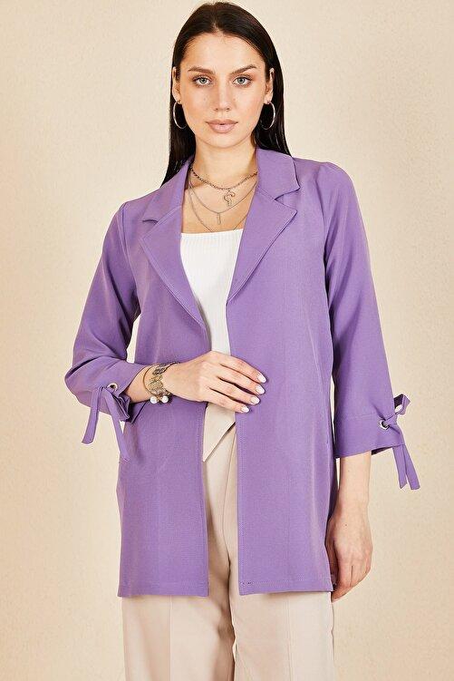 HAKKE Kadın  Kol Kuşgözü Bağlama Ceket 1