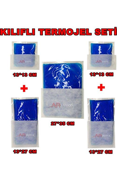 ARWEX Kılıflı Termojel Seti Tüm Boylardan Termojel Seti Sıcak Soğuk Termo Jel Kompres Buz Jel Termojel 1