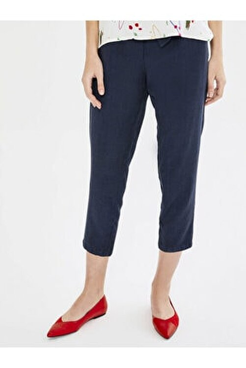 Xint Xınt Normal Bel Ön Bağlamalı %100 Liyosel Rahat Kesim Pantolon 1