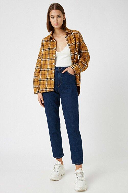 Koton Kadın Mavi Pamuklu Jeans 2