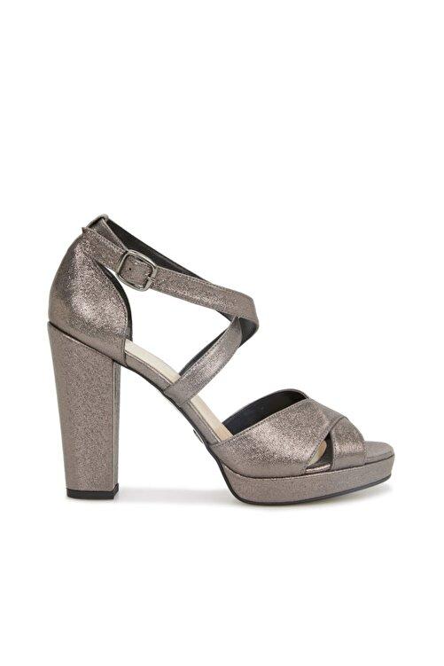 Dıvarese Kadın Platin Silver Topuklu Sandalet 1