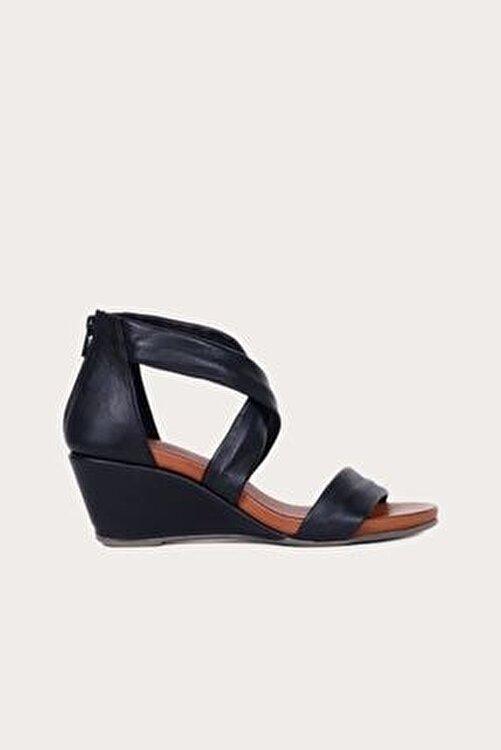 Bueno Shoes Kadın Bueno Siyah Deri Dolgu Topuklu Sandalet 1