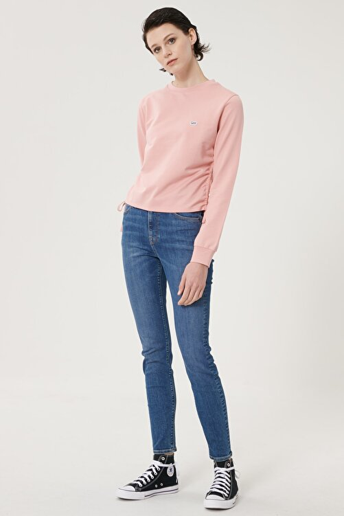 Lee Kadın Mavi Scarlett High Skinny Fit Denim Esnek Jean Kot Pantolon 1